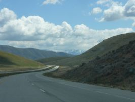 Mountains from the Highway by Enchantedgal-Stock