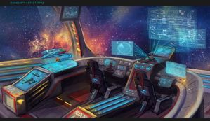 The interior of the spaceship by VeraVoina