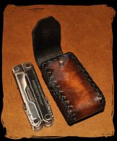 Leatherman utility tool leather holster by Lagueuse