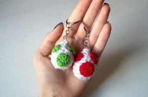 Yoshi Egg Keychains! by fluorescentspace