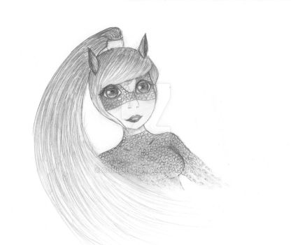 Miraculous OC Horse : Equita : in pencil by conikus