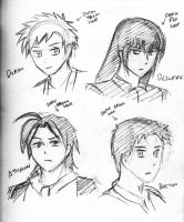 bunch of new character sketches 2 by HaloCapella
