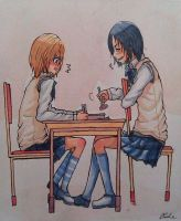 Snk Ymir x Krista school time by pipapipo
