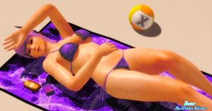 Beach Beauty - Ayane 1 - Dry by SnowTheWinterKitsune