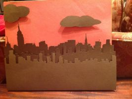 City Skyline Paper Cutting by Maii1234