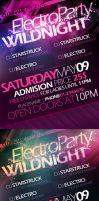 Party Flyer template PSD by yuval10203