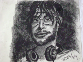 Self Portrait with headphones by Silent-Pea