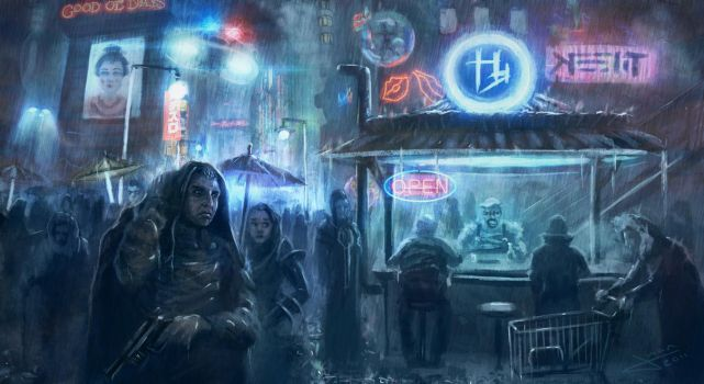 Blade Runner on the run by guang2222