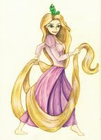WIP- Rapunzel by wolfb09