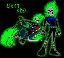 GhostRider-Danny Phantom style by theRedDeath888