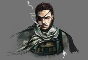 MGS5 Big Boss by kazu-ren
