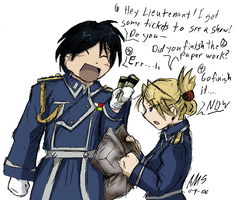 Roy and Riza - Invite Denied by mandy-kun