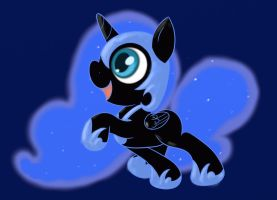 Filly Nightmare Moon by Conmankez
