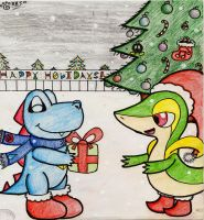 Merry Christmas, Snivy! by Yoshistar-Baxter
