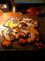 Arcanine Bead Sprite (Work In Progress) by 8bitsofawesome