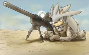 Silver with Sniper by oLEEDUEOLo