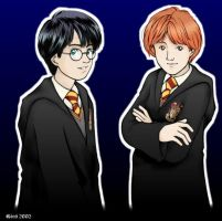 Harry and Ron by telesketch