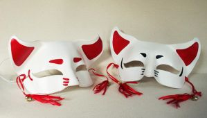 Manga Leather Beast Masks by nondecaf