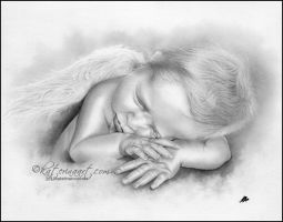 Baby Angel Boy by Katerina-Art