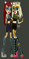 Thunderian Sisters by wolfdemongirl13