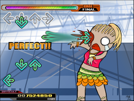 IF I COULD BE A DDR ARROW by Evilkittah