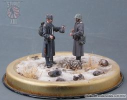 Winter Diorama 1/48 Soviet Infantry Meeting by Michael-XIII