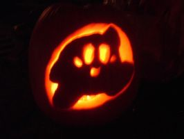 My Kirby pumpkin-night by Kirby-4-ever