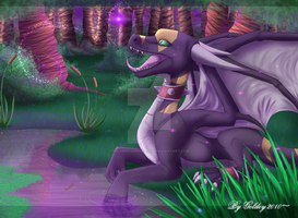Swamp of violet by GoldenTigerDragon