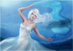 Aminael: Dance under the water by sionra