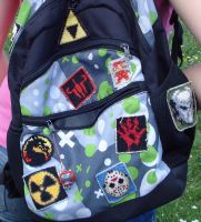 Backpack held together by patches by nexinita
