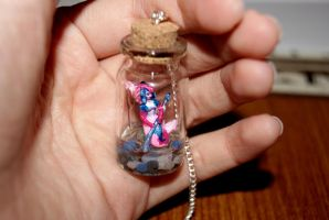 Koi Nami in a vial necklace 2 by Islaxara