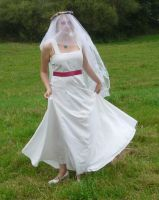 bride on a field - veil 7 by indeed-stock