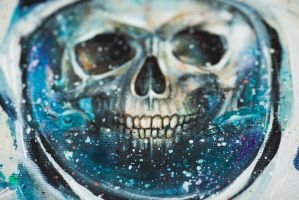 Canvas print with hand-painted details of Gabriel by TanyaShatseva