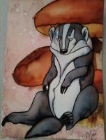 Kal the Badger by Quoosa