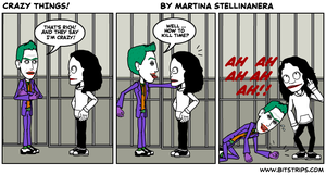Jeff and Joker Crazy things by stellinanera