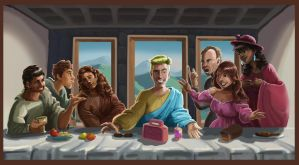 Saved by the Bell - Last Supper by Lucas-Zebroski