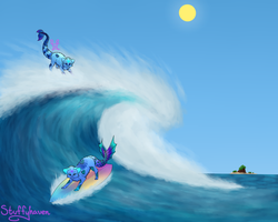 Water Twins by Stuffyhaven