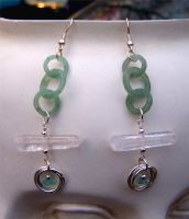 Stone Circles Earrings 2 by Bright-Circle