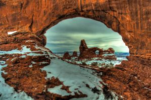 Turret Arch Winter by mikewheels