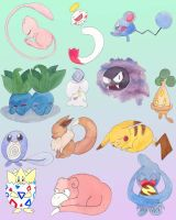 Pokemon Stickers Preview! by Enuwey
