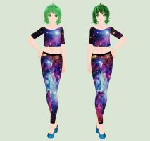 [MMD] Galaxy Gumi (Stellar Collab) by piegirl333