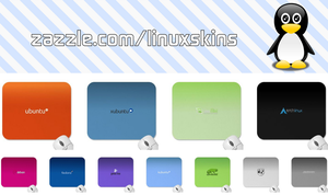 Linux Distros Mouse pads by Tribrush