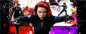 Black Widow Avengers Signature by VaL-DeViAnT