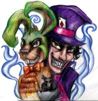Mad Hatter and Mad Hare by WesternWitch