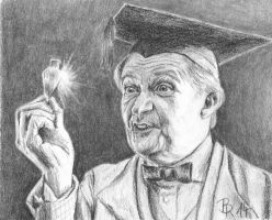Horace Slughorn with Felix felicis by LoonaLucy