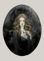 The Oval Portrait by LiigaKlavina