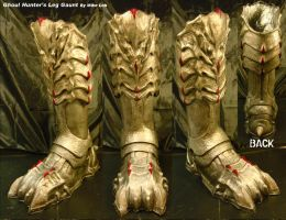 Ghoul Leg Boots Red Tips by Uratz-Studios