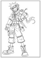 Kingdom Hearts-Naruto LINES by arvalis
