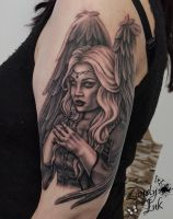 Dark Angel Tattoo by Zindy