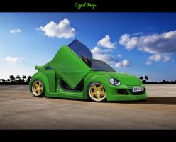 VW New Beetle Dirty Frog by Cipprik
